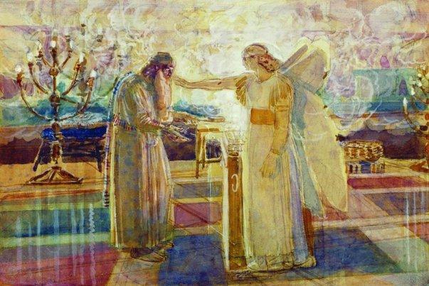 Ocala First Connection: Jesse Tree Symbol #21: Zechariah's Angel